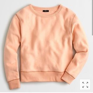 J Crew Brushed Terry Pullover Sweatshirt in Melon
